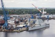 The USS Zumwalt at Bath Iron Works.