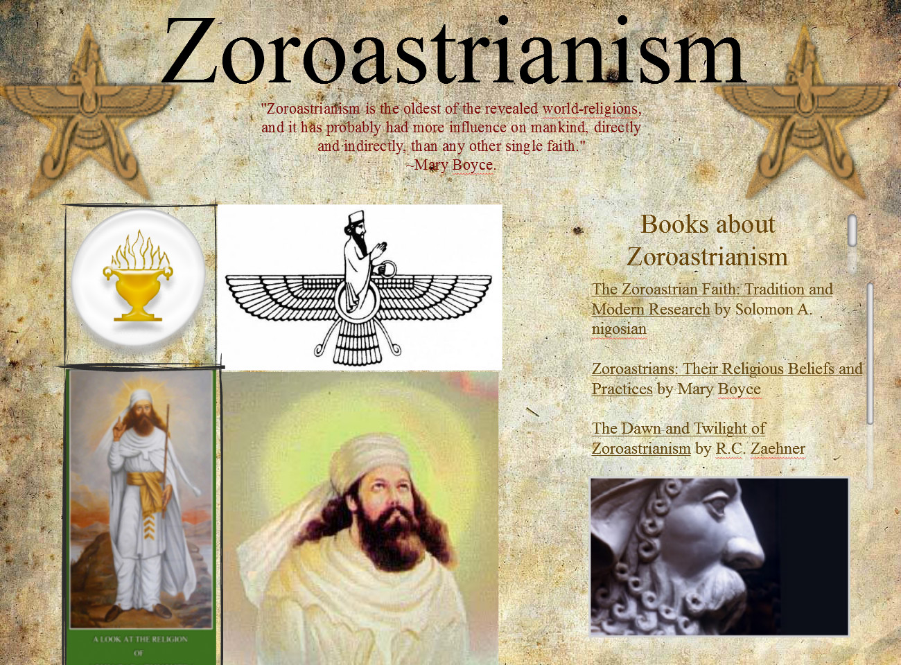 religion and grand zoroastrian nation essay This book, which records all the religious ceremonies and customs of the parsees, will, at least, show to future generations, what was the good that was heedlessly thrown off, and what was the bad that was properly thrown of.